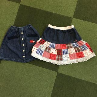mikihouse - ミキハウス スカート2枚セット 120cm