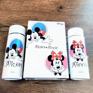 ディズニー(Disney)の【新品未開封!】ミッキー&ミニー ミニボトル2本 ステンレスボトル ノベルティ(水筒)