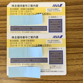 ANA(全日本空輸) - ANA 株主優待券 2枚セット 2020年11月30日まで有効