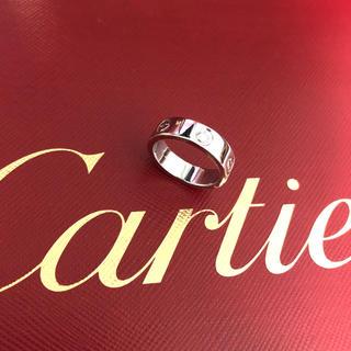 Cartier - 美品 cartier ラブリング プラチナ pt950 ダイヤモンド 50