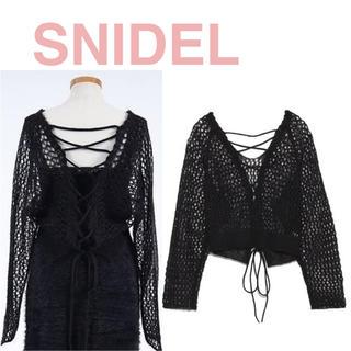 スナイデル(snidel)のメッシュモヘアニットPO SNIDEL スナイデル サマーニット(ニット/セーター)