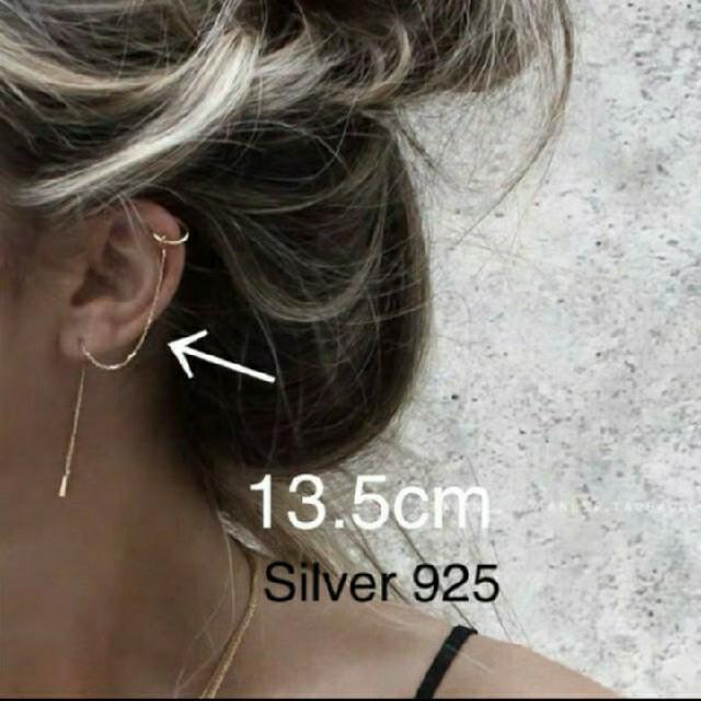 PHEENY(フィーニー)の即納❣️チェーンイヤーカフ 14k  silver 925 レディースのアクセサリー(イヤーカフ)の商品写真