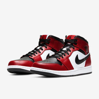NIKE - NIKE AIR JORDAN 1 MID CHICAGO BLACK TOE