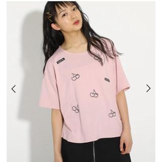 ピンクラテ(PINK-latte)のPINK-latte  背中あきTシャツ(Tシャツ/カットソー)