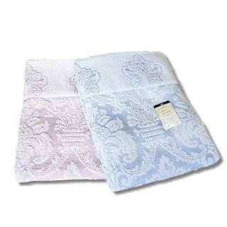 259【タオルケット】ジャガードタオルケット シングルサイズ 2枚セット