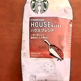 スターバックスコーヒー(Starbucks Coffee)の賞味期限スターバックス ハウスブレンド 豆 250g 賞味期限2020/7/15(コーヒー)