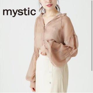 mystic - mystic シアーギャザーブラウス