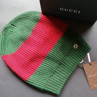 Gucci - 正規店購入 グッチ ウール ビーニー ニット帽 新品、箱付き