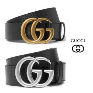 グッチ(Gucci)のGUCCIグッチ★GGロゴ フルグレインレザーベルト(ベルト)