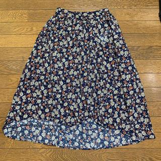 アメリエルマジェスティックレゴン(amelier MAJESTIC LEGON)のamelier MAJESTIC LEGON フロント重ねスカート(ひざ丈スカート)
