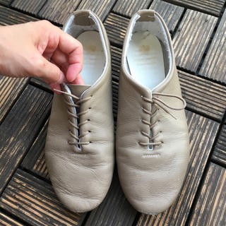 LEATHER UPPER MAN MADE SOLE サイズ8フラットシューズ(その他)