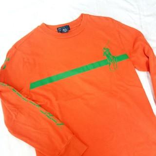 ポロラルフローレン(POLO RALPH LAUREN)のUsed polo オレンジ ロンT(Tシャツ(長袖/七分))