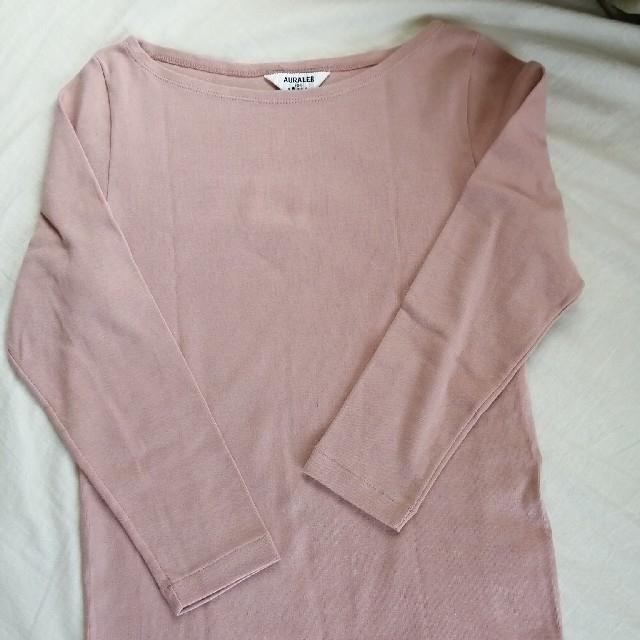 IENA(イエナ)のAURALEE IENA 別注ボートネックTシャツ レディースのトップス(カットソー(長袖/七分))の商品写真
