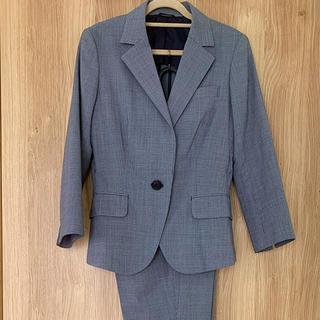 スーツカンパニー(THE SUIT COMPANY)の夏用七分袖パンツスーツ(ネイビー)(スーツ)