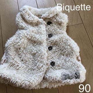 ビケット(Biquette)のBiquette フリース ベスト アイボリー 90 キムラタン ビケット (ジャケット/上着)