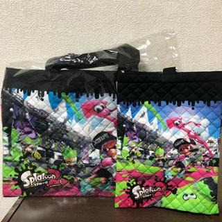 ニンテンドウ(任天堂)の新品  スプラトゥーン2  キルト  レッスンバッグ  シューズバッグ セット(レッスンバッグ)