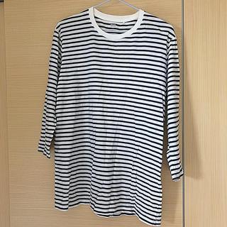 ユニクロ(UNIQLO)のメンズ ボーダー カットソー 七分袖(Tシャツ/カットソー(七分/長袖))