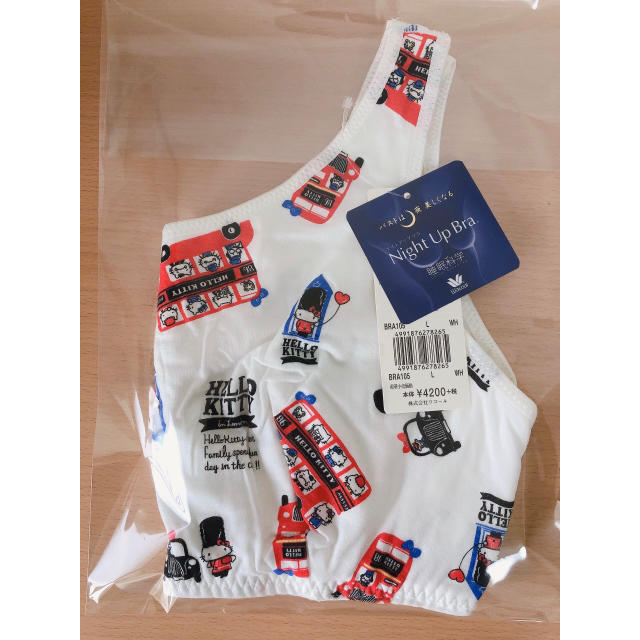 Wacoal(ワコール)のワコール  ナイトアップブラ Lサイズ      ナイトブラ キティちゃん柄 レディースの下着/アンダーウェア(ブラ)の商品写真