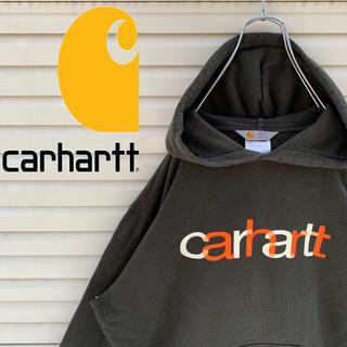 carhartt - カーハート スウェット パーカー 90s フロントプリント ゆるダボ かわいい