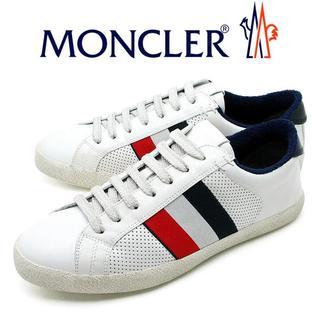 モンクレール(MONCLER)の37 MONCLER 20SS ホワイト ビンテージ加工 スニーカー 44(スニーカー)