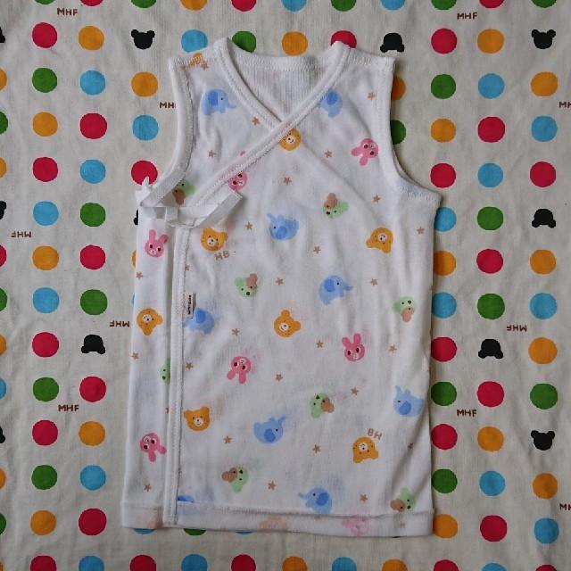 mikihouse(ミキハウス)のミキハウス 短肌着 60 50 キッズ/ベビー/マタニティのベビー服(~85cm)(肌着/下着)の商品写真