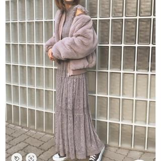 リリーブラウン(Lily Brown)の♡アディラ♡タグ付き新品未使用レースワンピース結婚式(ロングワンピース/マキシワンピース)