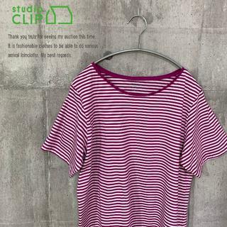 スタディオクリップ(STUDIO CLIP)のstudio CLIP 新品 半袖インナープルオーバー オフ×ピンク LL(Tシャツ(半袖/袖なし))