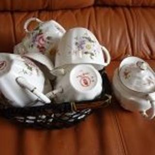 おしゃれなコーヒー、ティーカップセット(8客)ミルクカップ
