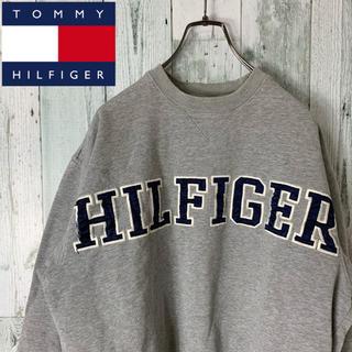 トミーヒルフィガー(TOMMY HILFIGER)の【リブライン】トミーヒルフィガー デカロゴ ゆるダボ スウェット トレーナー(スウェット)