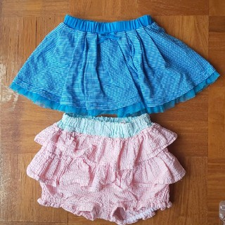 ユニクロ(UNIQLO)の子供服 ブルマ スカートつきパンツ 二枚セット 80cm 90cm(その他)