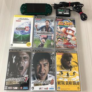 プレイステーションポータブル(PlayStation Portable)のPSP本体+ソフト6本セット(携帯用ゲーム機本体)