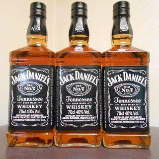 ジャックダニエル・ブラック正規品・フルボトル3本セット・新品未開封②(ウイスキー)