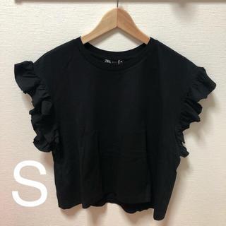 ZARA - ZARA フリル付きTシャツ S