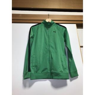 プーマ(PUMA)のプーマ ジャージ トレーニングウェア トラックジャケット 緑(ウォーキング)
