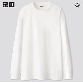 ユニクロ(UNIQLO)のUNIQLO ユニクロ U クルーネックT  白 新品未開封(Tシャツ/カットソー(七分/長袖))