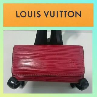 LOUIS VUITTON - ルイヴィトン キーケース M63827 赤色 エピ