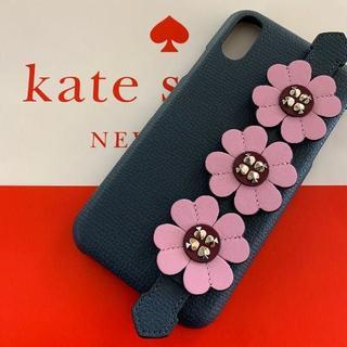 kate spade new york - ケイトスペード/便利!立つ!ハンドストラップ大スペードフラワーのiPhone
