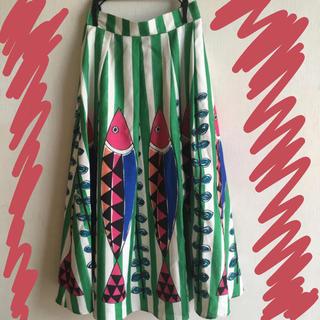 merlot - メルロー  ウエストゴム ロングスカート