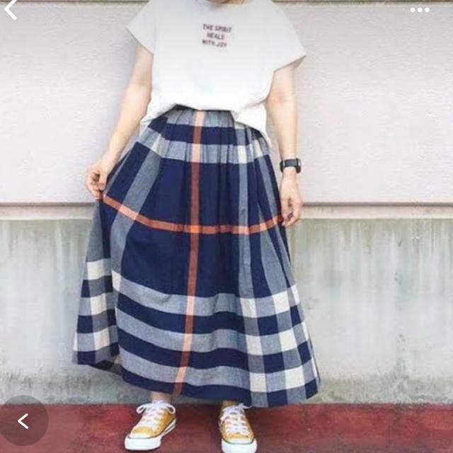 SM2(サマンサモスモス)のsm2 blue大柄チェックスカート レディースのスカート(ロングスカート)の商品写真