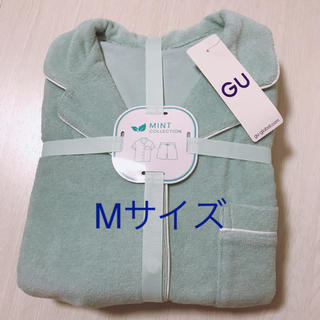 GU SABON パイルパジャマ 半袖 ミント ライトグリーン M
