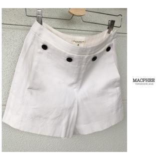 TOMORROWLAND - トゥモローランド MACPHEE マリン デザイン ショートパンツ ホワイト 白
