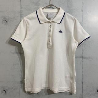 アディダス(adidas)の定番 adidas 刺繍ロゴ ワンポイント ポロシャツ 白(ポロシャツ)