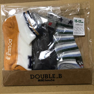DOUBLE.B - 新品 ミキハウス ダブルビー 靴下 15〜17