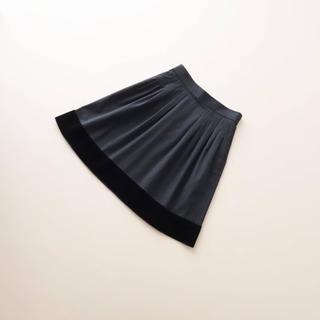 FOXEY - ■FOXEY NY■ 38 ベロアトリミング 黒 スカート