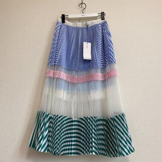 sacai - レア♡ 新品★sacai サカイ★2018SS♡ 紙タグ付 プリーツ スカート