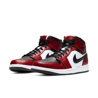 NIKE - AIR JORDAN 1 MID CHICAGO BLACK TOE 28