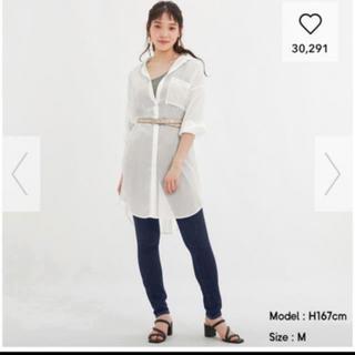 GU - ジーユー  GU  シアーロングシャツ XL
