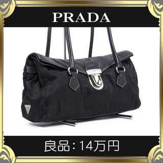 PRADA - 【真贋査定済・送料無料】プラダのハンドバッグ・良品・本物・人気・肩掛け