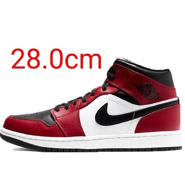 NIKE(ナイキ)の28cm ナイキ エア ジョーダン 1 ミッド シカゴ ブラック トゥ ② メンズの靴/シューズ(スニーカー)の商品写真