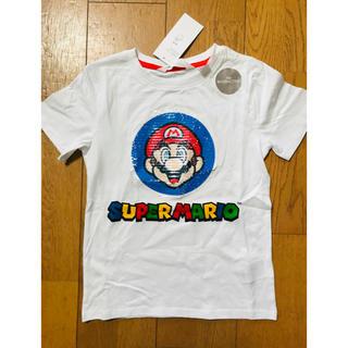 ✨120 スーパーマリオ スパンコール TシャツH&M